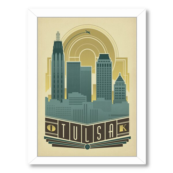 Tulsa Decor Skyline Framed Vintage Advertisement by East Urban Home