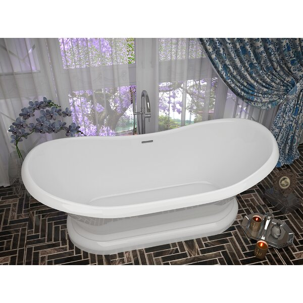 Ruby Series 70.75'' x 32.75'' Freestanding Soaking Bathtub by ANZZI