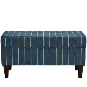 Evalyn Traditional Cotton Upholstered Storage Bench by Breakwater Bay