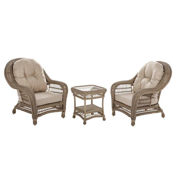 Ophélie 3 Piece Conversation Set with Cushions by One Allium Way