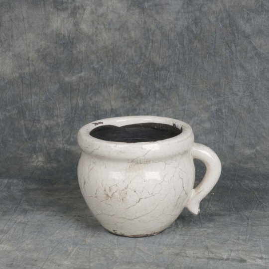 Cracked Glaze Ceramic Pot Planter by Mr. MJs