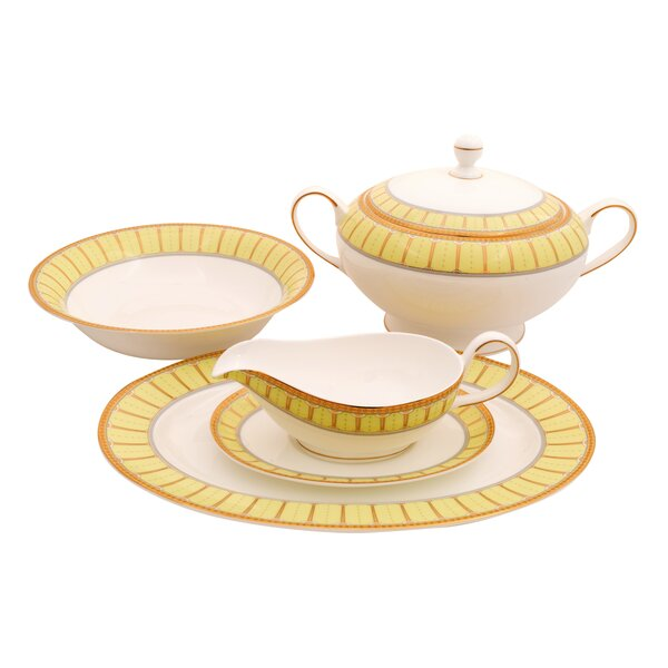 Discovery Bone China Special Serving 5 Piece Dinnerware Set by Shinepukur Ceramics USA, Inc.
