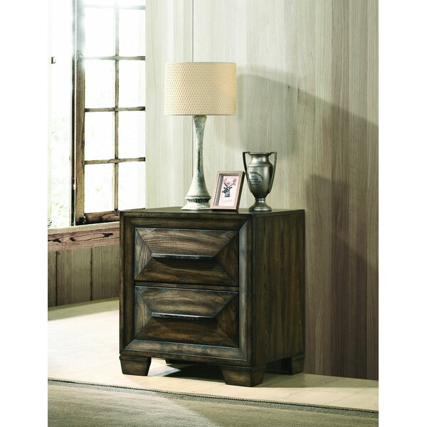 Cifuentes 2 Drawer Nightstand by Foundry Select
