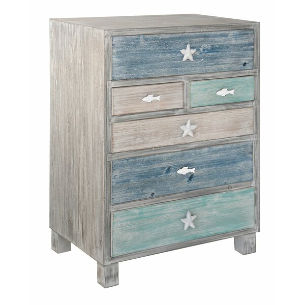 Harrigan Nautical 6 Drawer Accent Chest by Highland Dunes Highland Dunes