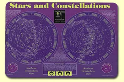 Stars and Constellations Placemat (Set of 4) by Painless Learning Placemats