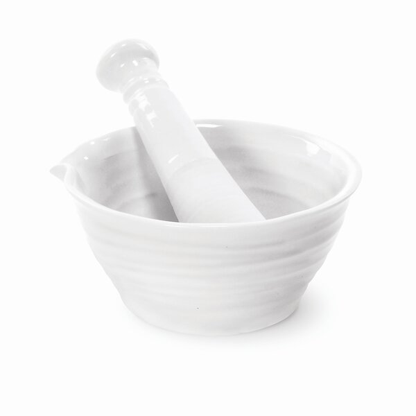 Sophie Conran White Mortar and Pestle by Portmeirion