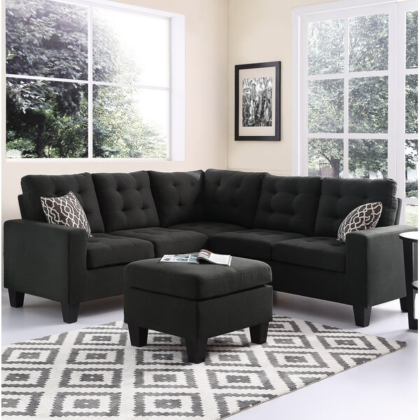 Averie Symmetrical  Sectional with Ottoman by Winston Porter
