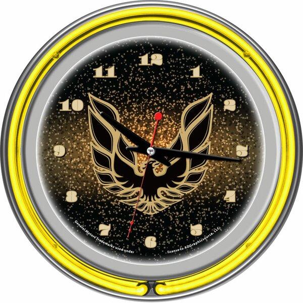 Pontiac 14.5 Firebird Double Ring Neon Wall Clock by Trademark Global