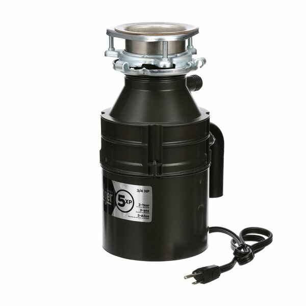 Badger 5XP 3/4 HP Continuous Feed Garbage Disposal (With Optional Power Cord) by InSinkErator