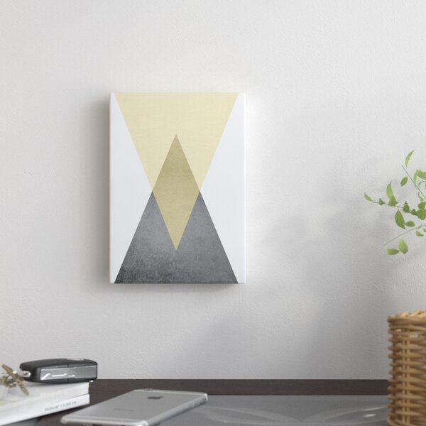 Geometric Art 57 Graphic Art on Wrapped Canvas by East Urban Home