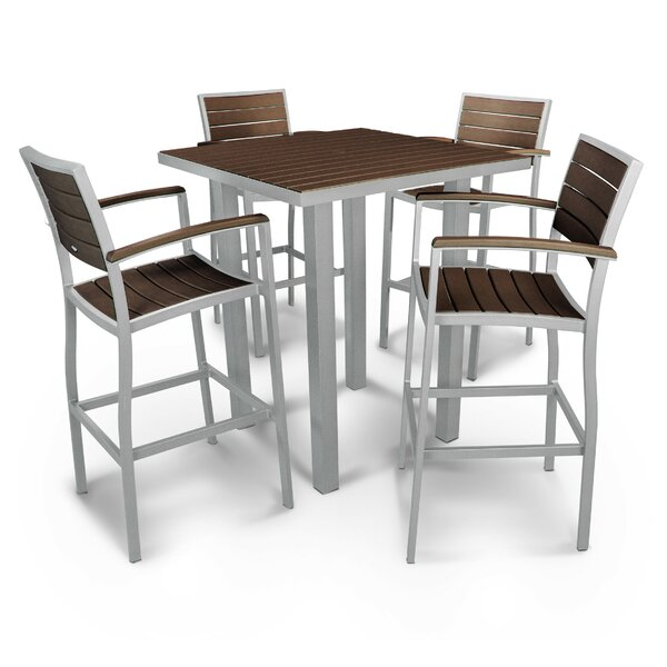 Euro 5 Piece Bar Height Dining Set by POLYWOOD®
