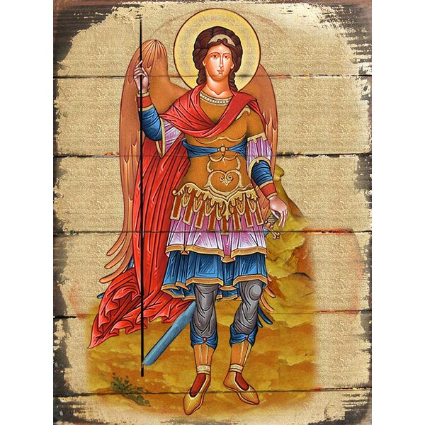 Inspirational Icon Saint Michael The Archangel Painting by G Debrekht