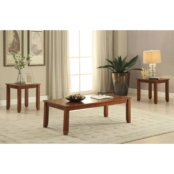 Kinman Wooden 3 Piece Coffee Table Set by Winston Porter