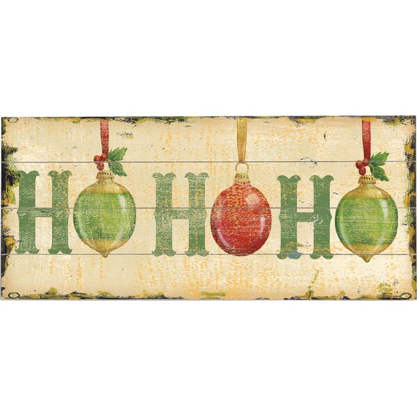 Ho Ho Ho Graphic Art Print Multi-Piece Image on Wood by Artehouse LLC