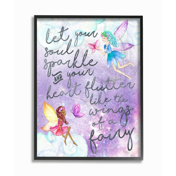 Let Your Soul Sparkle Fairies Giclee Framed Textual Art by Stupell Industries