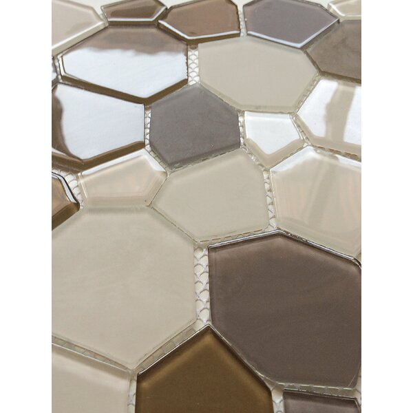 12 x 12 Glass Mosaic Tile in Brown and Beige by Upscale Designs by EMA