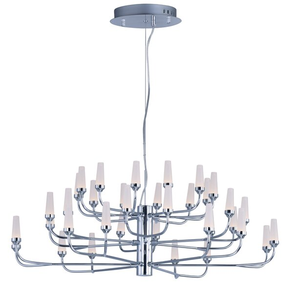 Maciejewski 36 - Light Candle Style Tiered Chandelier with Crystal Accents by Orren Ellis Orren Ellis