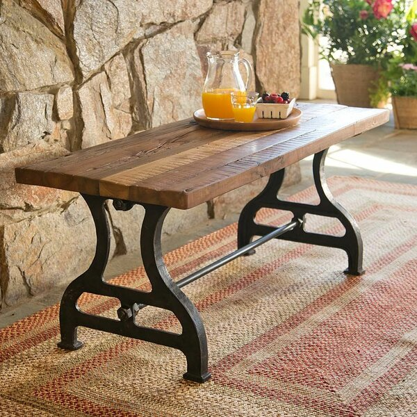 Reclaimed Wood/Iron Garden Bench by Plow & Hearth Plow & Hearth