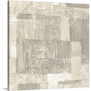 Drawn Lines Neutral Painting Print on Wrapped Canvas by Great Big Canvas