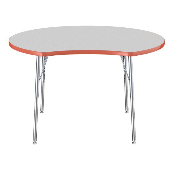 Crescent Thermo-Fused Collaboration Contour Adjustable 44.5 x 48 Novelty Activity Table by ECR4kids