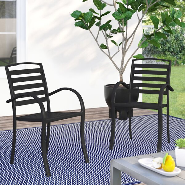 Galicia Modern Contemporary Stacking Patio Dining Chair by Wrought Studio Wrought Studio