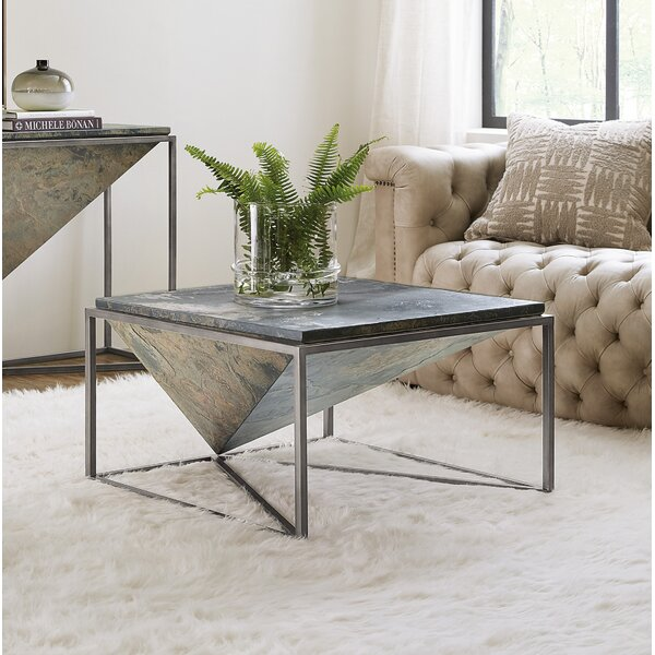 Occasional Square Coffee Table with Tray Top by Hooker Furniture