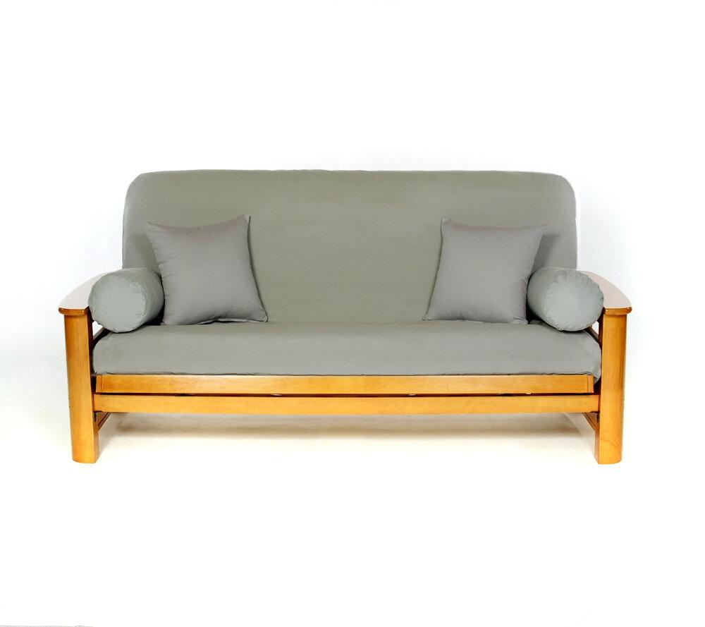 red barrel studio box cushion futon slipcover reviews wayfair. Black Bedroom Furniture Sets. Home Design Ideas
