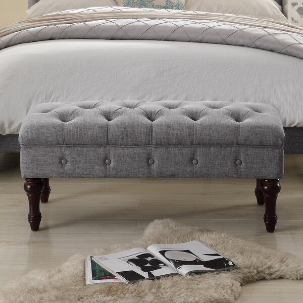 Suellen Tufted Upholstered Bedroom Bench by Ophelia & Co.