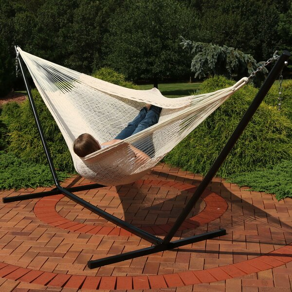 Waldschmidt Cotton Double Hammock with Stand by Millwood Pines Millwood Pines