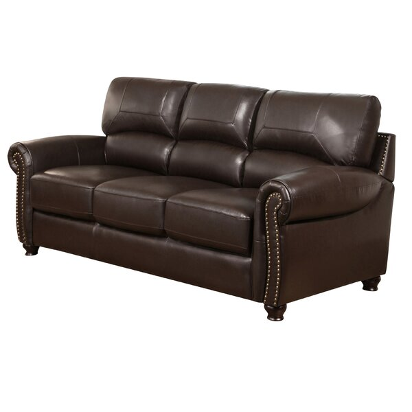 Boley Leather Sofa by Fleur De Lis Living
