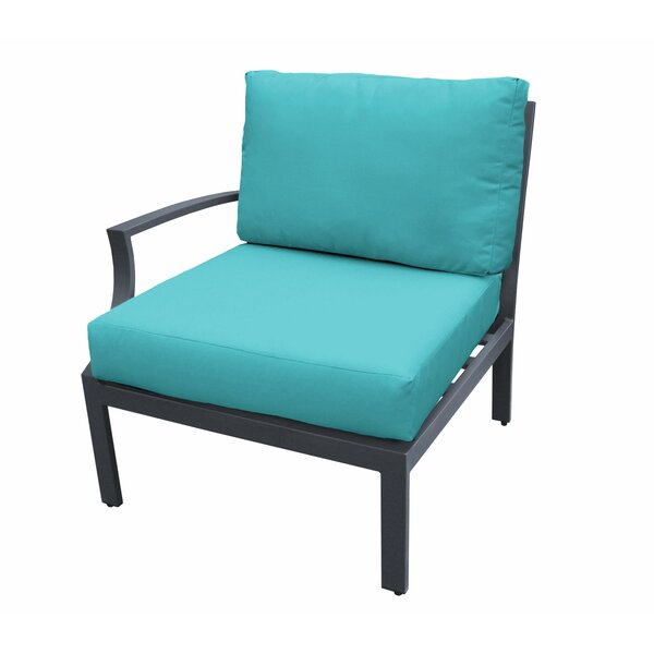 Kantor Right Arm Patio Chair with Cushions by Wrought Studio