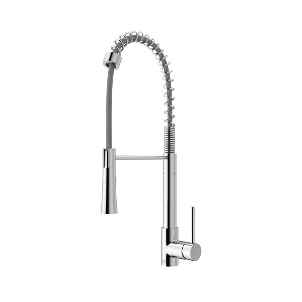 Laurelton Pull-Down Spray Single Handle Kitchen Faucet by VIGO