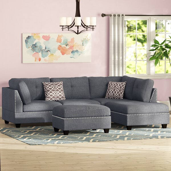Charlemont 104-inch Reversible Sectional With Ottoman By Alcott Hill