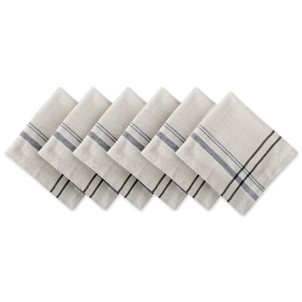 Charon Stripe 20 Napkin (Set of 6) by Gracie Oaks