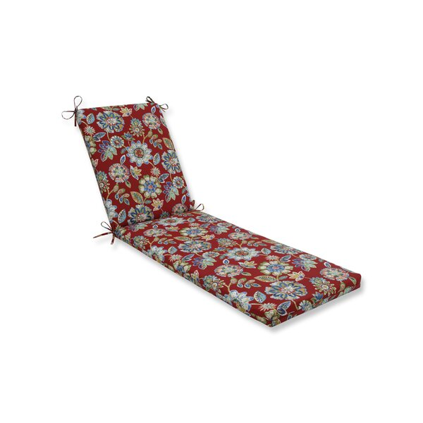 Cherry Indoor/Outdoor Chaise Lounge Cushion by Alcott Hill
