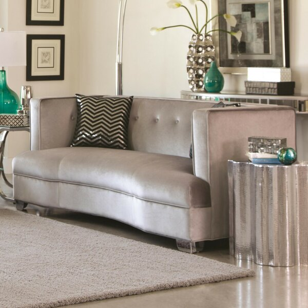 Southam Curved Loveseat By Everly Quinn