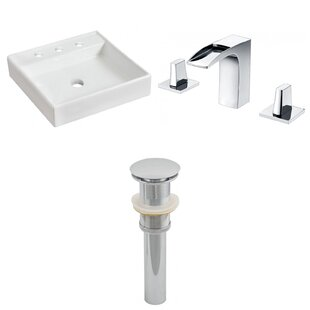 Find the perfect Ceramic Square Vessel Bathroom Sink with Faucet By Royal Purple Bath Kitchen