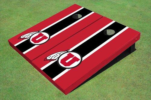 NCAA 10 Piece Matching Long Stripe Cornhole Board Set by All American Tailgate