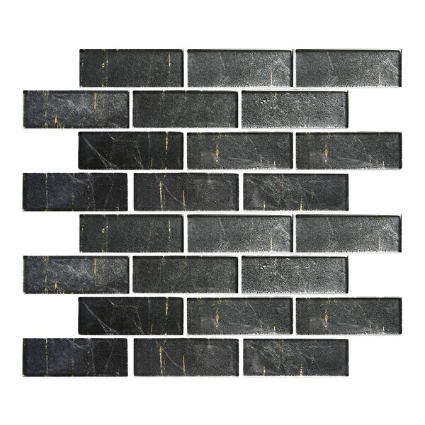 Folia 1.38 x 4 Glass Mosaic Tile in Eryngium Gray by Solistone