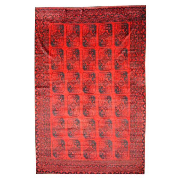 Prentice Red/Navy Area Rug by Isabelline