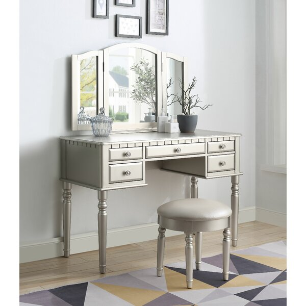 Cornwall Vanity Set with Mirror by Rosdorf Park