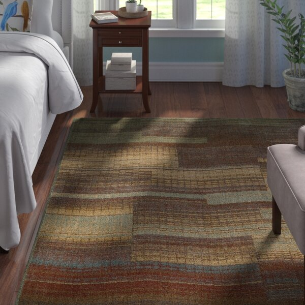 Smithtown Aqua/Brown Area Rug by Andover Mills