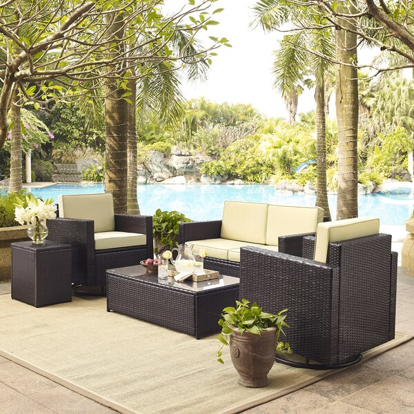 Belton 5 Piece Sofa Set with Cushions by Mercury Row