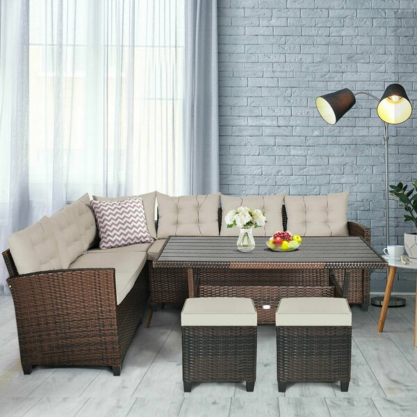 Hearston 5 Piece Dining Set with Cushions by Ebern Designs