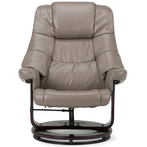 Ledi Manual Swivel Glider Recliner With Ottoman by Simpli Home