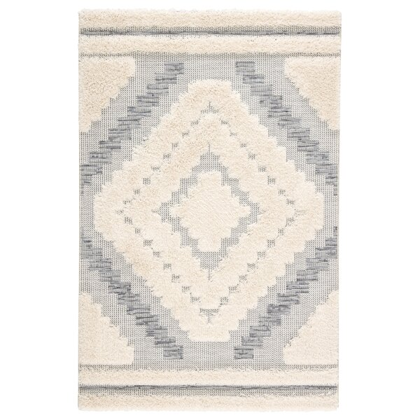 Vena Geometric Gray/Beige Indoor/Outdoor Area Rug by Bungalow Rose