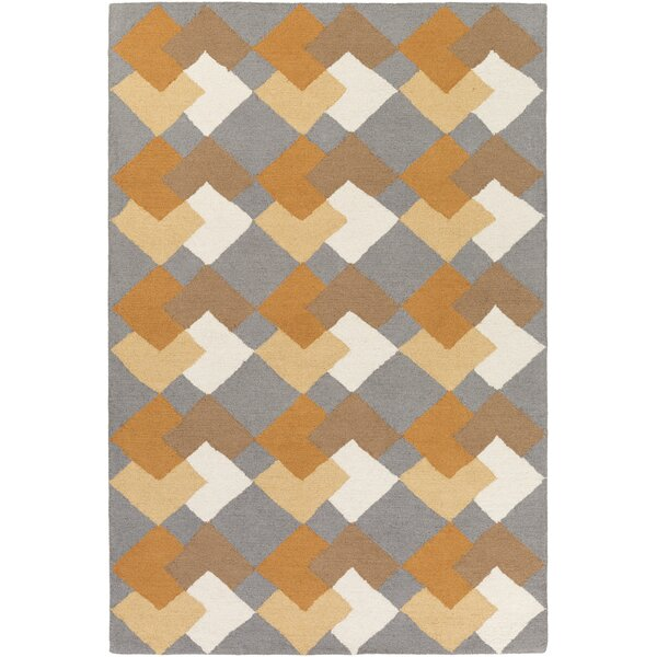 Younker Hand-Crafted Multi-Colored Area Rug by George Oliver