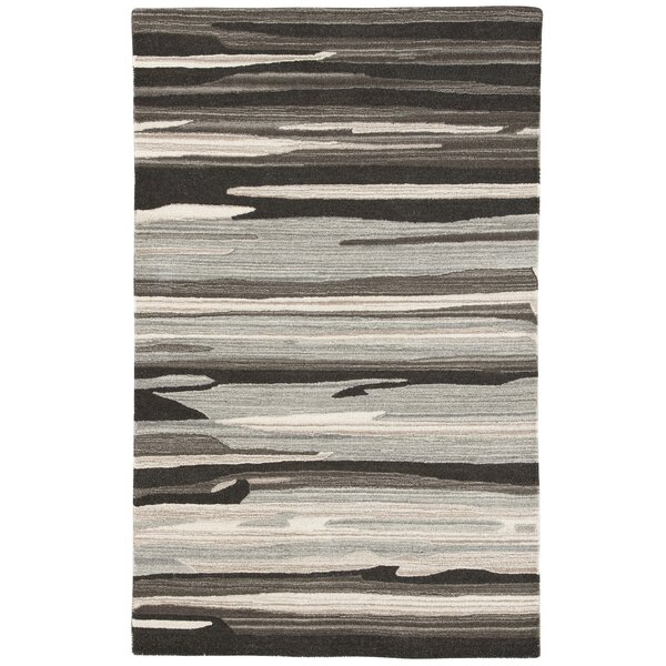 Midwood Hand-Tufted Tan/Gray Area Rug by Wade Logan