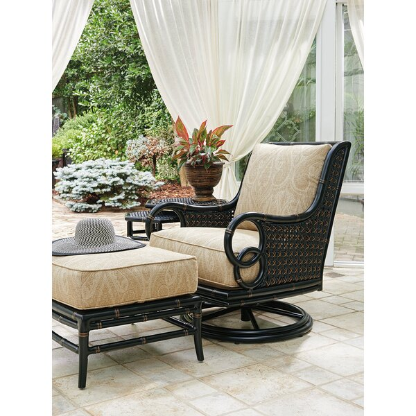 Marimba Swivel Chair with Cushion and Ottoman by Tommy Bahama Outdoor Tommy Bahama Outdoor