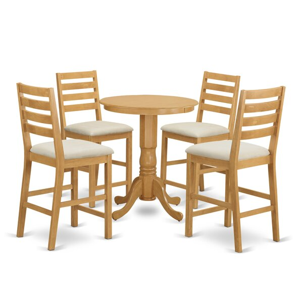 5 Piece Counter Height Pub Table Set by Wooden Importers Wooden Importers